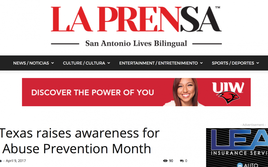 SJRC Texas raises awareness for Child Abuse Prevention Month